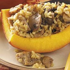 For a fun fall treat, serve up this festive Sausage-Stuffed Pumpkin #recipe. Pin now, read later! #fall