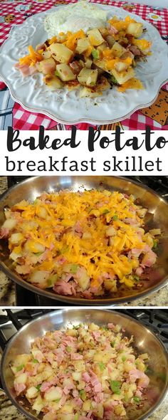 From now on, I'm going to make sure I have extra baked potatoes so I can make this breakfast skillet again. I used ham in the Test Kitchen, but any meat will be great. This is a great recipe for using up leftovers. I loved the combination of peppers, onion, and other spices. Serve this skillet alongside eggs and you have an easy to make hearty breakfast.