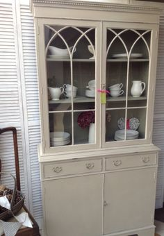 Lovely Dresser/ Display Cabinet. Country Grey with Chateau Grey inside