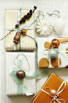 Christmas gift wrapping by Sostrene Grene