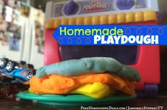Homemade play dough is PERFECT for frugal homeschool fun! Plus, kids really feel like they're accomplishing something cool and it's a family project!
