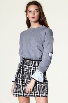 Xiara Hound tooth Check Skirt Discover the latest fashion trends online at storets.com
