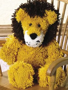 Leopold the Lion - a free crochet pattern. (Subscription to the site is required to download the pattern)