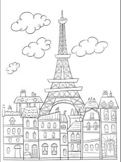 coloriage-paris.jpg 477×640 pixels...just really like the picture