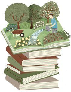 Los libros cobran vida cada vez que se leen (ilustración de Andy Robert Davies)