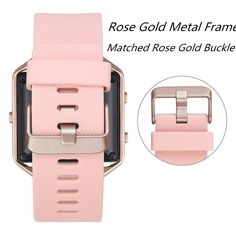 Fitbit Blaze Band, Classic, Small Pink V-Moro Silicon Bracelet Strap Replacement  | eBay