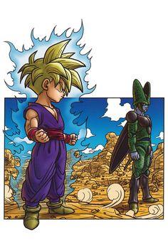 Dragon Ball Kanzenban Volume #27 - Poster GOHAN N CELL