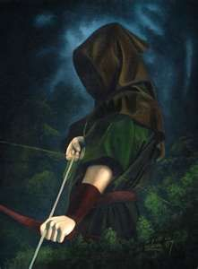 "Hellooo, Sailor! Or archer. Award Winning Art ""The Hooded Man"" - by Adam Hodgson"