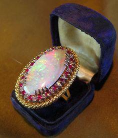Vintage opal ring #opalsaustralia