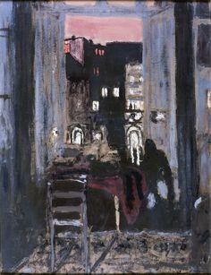 Édouard Vuillard (France 1868-1940) Paris nocturne gouache, détrempe sur carton 63,3 x 49 cm Musée de l'Abbaye, Saint-Claude, France