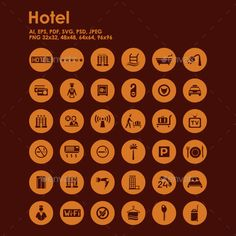 36 Hotel icons