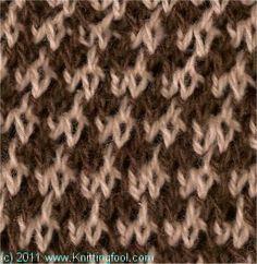 Bubble Tweed #knitting #stitch