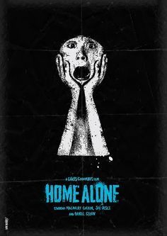 An alternative movie poster for the film Home Alone, created by Daniel Norris, featured on AMP Minimal Movie Posters, Minimal Poster, Cool Posters, Graphic Posters, Cinema Posters, Home Alone Movie, Alternative Movie Posters, Movie Poster Art, Film Music Books