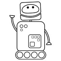 george the robot colouring page educational childrens children - Childrens Colouring In