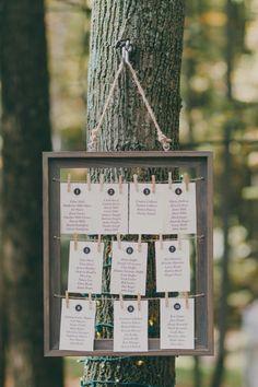 Teal Photography; Rustic Backyard Harrisburg Wedding from Teal Photography - wedding escort card idea