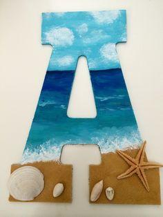 Beach letter birthday gift for kappa delta sorority sister