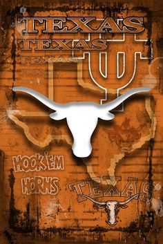 University of Texas Longhorns Poster, Longhorns Gift, Texas University                      – McQDesign