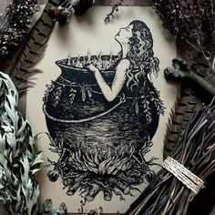 A hedge witch relaxes in her clawfoot cauldron tub on the edge of the woodlands. Ritual baths are implemented in many forms of witchcraft for a variety of diffe Design Tattoo, Tattoo Designs, Body Art Tattoos, I Tattoo, Tatoos, Ritual Bath, The Ritual, Witch Tattoo, Hedge Witch