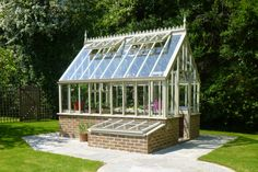 National Garden Scheme Greenhouse in Aluminium Garden Spaces, Garden Pots, Potted Garden, Home Library Rooms, Wooden Greenhouses, Water Storage Tanks, Planting Plan, High Walls, The Gables
