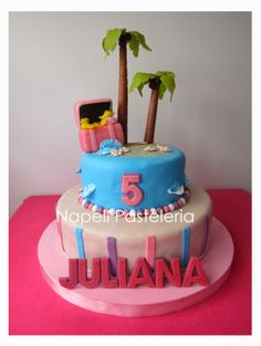 Torta Isla Princesa pirata. Pirate island princess cake