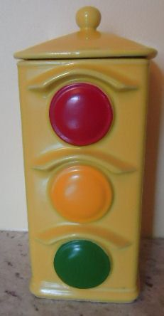Charming vintage McCoy Stop Light cookie jar by jazzejunqueinc, $59.99