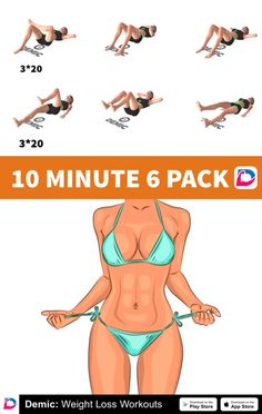 10 Minute 6 Pack Workout - Famous Last Words Sixpack Abs Workout, Abs Workout Routines, Workout Videos, Workout Exercises, Fat Knee Exercises, Workout Plans, Do Exercise, Excercise, Exercise Equipment