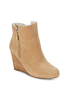 Saks Fifth Avenue - Waverly Faux Fur Suede Wedge Boots