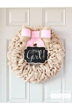 1000 ideas about burlap baby showers on pinterest for Baby shower door decoration