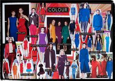 Rich hues of Cobalt, Pine Green, Purple, Burgundy and Flame Red dominate the Colour chart this season, as seen at Lanvin and Stella McCartney