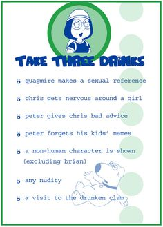 Family Guy Drinking Game (3/4)