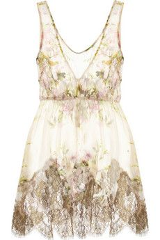 RosamosarioLace Trimmed Silk-Creponne Camisole