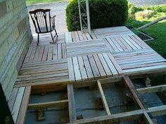 recycling pallet porch