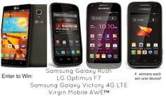 Boost Mobile and Virgin Mobile USA Cell Phone Giveaway!