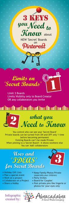 3 Keys You Need to Know about #secret boards  by abracadabrasocialmedia.com
