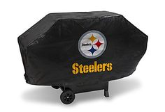 NFL Pittsburgh Steelers Deluxe Grill Cover - Check this out at... http://outdoorlivingandpatioessentials.com/bbq-grills/nfl-pittsburgh-steelers-deluxe-grill-cover/