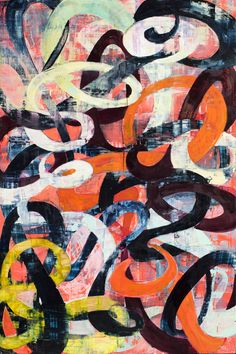 "Saatchi Online Artist: Galen Cheney; Oil, Painting ""Calligraffiti III"" #art"