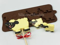4 1 SHEEP - FARm ANIMAL CHOCOLATE COLLECTION SILICONE MOULD. SHEEP - FARM ANIMAL novelty silicone chocolate / craft mould designed in 2014. You need 4.5mm lolly sticks, 150mm long if you want to make chocolate lollies. | eBay!
