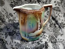"""VINTAGE """"A Present From Brighton"""" Pocelain Jug by ME of Bavaria--Seaside Pottery"""