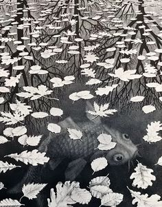 to cover the lower back if you decide to have a tree run up back to neck Escher Prints, Escher Art, Mc Escher, Linocut Prints, Art Prints, Block Prints, Dutch Artists, Chalk Pastels, Antique Prints