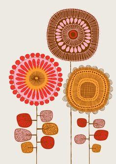 Flower print by: Eloise Renouf ( EloiseRenouf.etsy.com )