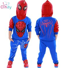 Spiderman Children Boys Clothing set Baby Boy Spider man Sports Suits 3-7 Years Kids 2pcs Sets Spring Autumn Clothes Tracksuits #>=#>=#>=#>=#> Click on the pin to check out discount price, color, size, shipping, etc. Save and like it!