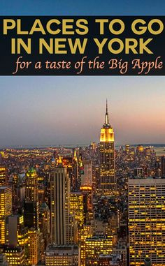 Places to go in New York for a taste of the Big Apple. From the Empire State Building to Brooklyn Bridge, Coney Island to Broadway, Central Park to The Hamptons - we've the best of one of America's favourite cities. Pic: Randy Pertiet