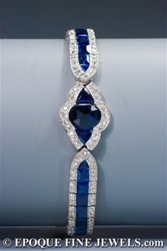 Art Deco sapphire and diamond bracelet, Charles Holl, circa 1925 by AislingH