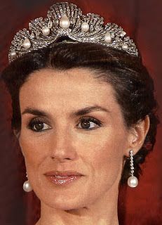 Queen Letizia of Spain wearing the  Shell Tiara