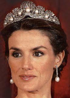 Queen Letizia of Spain wearing the  Shell Tiara