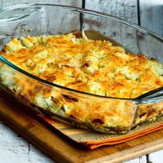 Cauliflower Gratin with Sharp Cheddar and Parmesan (Low-Carb, Gluten-Free) [from KalynsKitchen.com]