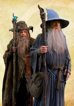 Wizards Radagast the Brown & Gandalf the Grey - The Hobbit Legolas, Tauriel, Thranduil, Lord Of Rings, Fellowship Of The Ring, Your Best Friend, Best Friends, Radagast The Brown, J. R. R. Tolkien