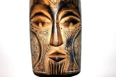 Fantastic Vintage Carved Mask from Ghana by AntiqueAlchemists Silence Is Golden, African Masks, West Africa, What Is Life About, Ghana, Beautiful Hands, Hand Carved, Carving, Wood