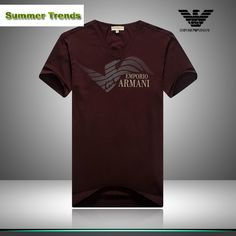 Cheap Ralph Lauren Polo, Outlet Store, Summer Trends, Emporio Armani, Jean Shorts, Canada, V Neck, Dark Red, Sleeve