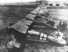 WWI - German Albatros D.III biplanes
